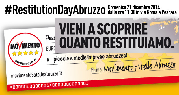 #restitutionday Abruzzo