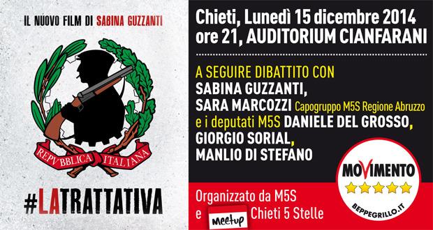 Sabina Guzzanti in Abruzzo con Il Movimento Cinque Stelle